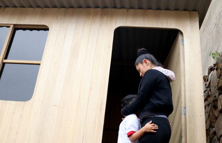 Madres adolescentes albergadas